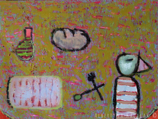 Evening feast, 100x80cm, oil on canvas, 2012, not available