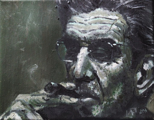 On order: Lacan, 24x19cm, oil on canvas, 2011 not available