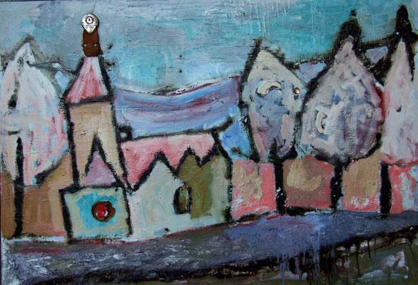 Church in Szklarska, 100x70cm, oil on canvas, 2011, not available