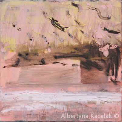 Beach 2, 40x40cm , oil, resin on canvas, 2016, not available