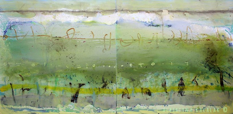 Planet IV - Earth, 280x140cm, oil, resin on canvas, 2014, not available