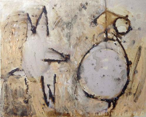 The mark 30, 100x80cm, oil, resin on canvas, 2013