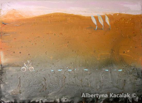 Poplars, 130 x 180 cm, oil on canvas, 2018, available in AKucharskiArt (info@akucharskiart.de)