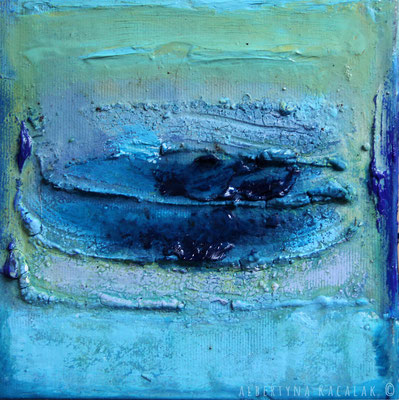 Lake, 15x15cm, oil, resin on canvas, 2014 not available