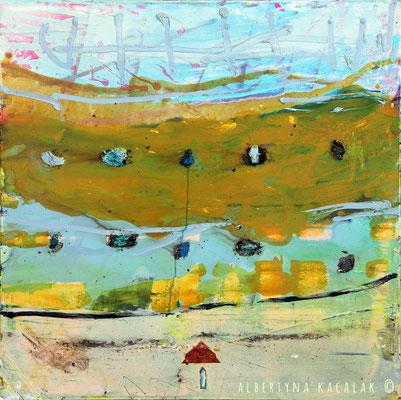 Fog II, 80x80cm, oil, resin on canvas, 2014, not available