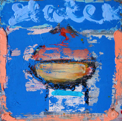 Noah's ark 4, 20x20cm, oil on canvas, 2015, framed, not available