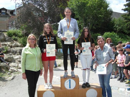 Schulsieger der Mädchen Mittelschule: Ann-Kathrin Geisel (7), Fjolla Sadikoska (7), Jana Hüttinger (7)