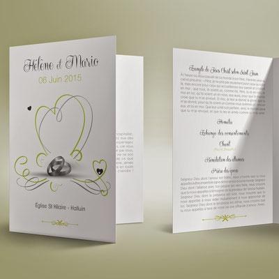 Livret de messe pour un mariage