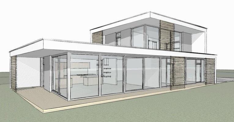 Jesteburg, Neubau Einfamilienhaus, Entwurf, 2012, nicht realisiert