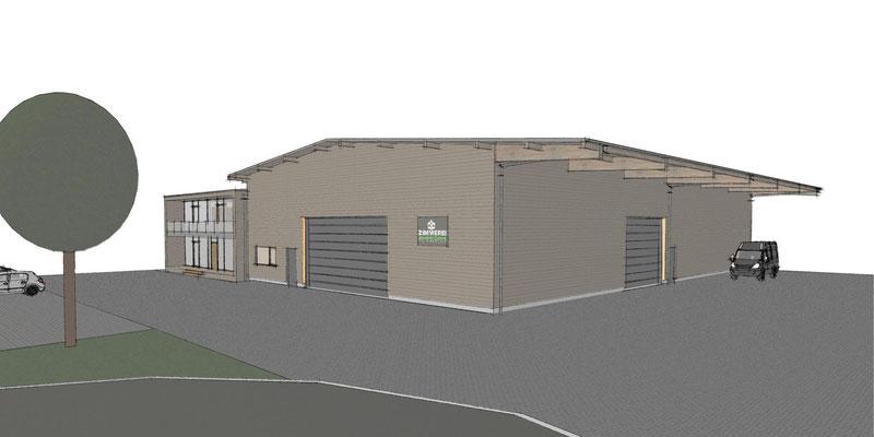 Neu Wulmstorf,  Gewerbehalle, Entwurf und Genehmigungsplanung, Realisierung durch Bauherr
