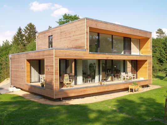 Neu Wulmstorf, Einfamilienhaus, Neubau in Holzrahmenbauweise, 2015-2017, Entwurf k_m architektur, Bregenz