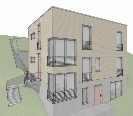 Hamburg-Harburg, Einfamilienhaus, Neubau in Holzrahmenbauweise, Alle Leistungsphasen, Fertigstellung 2016