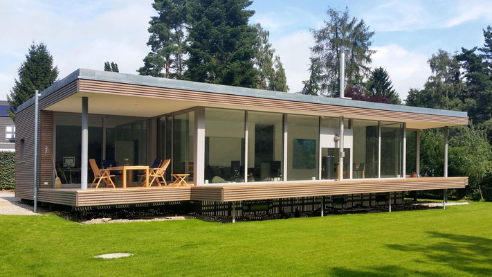 Reinbek, Einfamilienhaus, Neubau in Holzrahmenbauweise, Fertigstellung 2015