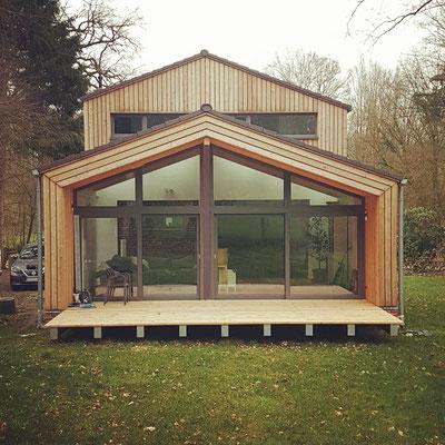 Welle, Einfamilienhaus, Erweiterung in Holzbauweise, Entwurf 2017