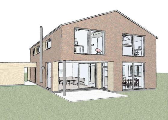 Buchholz, Einfamilienhaus,  Entwurf und Genehmigungsplanung, 2016, Realisierung durch GU