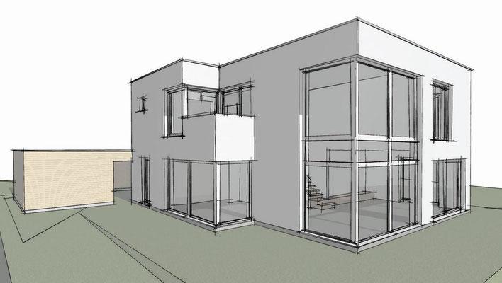 Holm-Seppensen, Einfamilienhaus, Neubau in Massivbauweise, Alle Leistungsphasen, Fertigstellung 2016