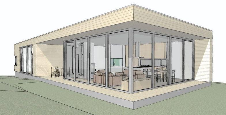 Neu Wulmstorf, Einfamilienhaus, Neubau in Holzrahmenbauweise, Alle Leistungsphasen, Fertigstellung 2015