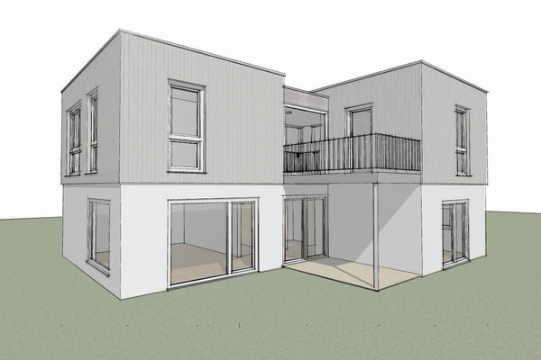 Buchholz, Aufstockung Einfamilienhaus, Entwurf, 2014, Realisierung durch GU