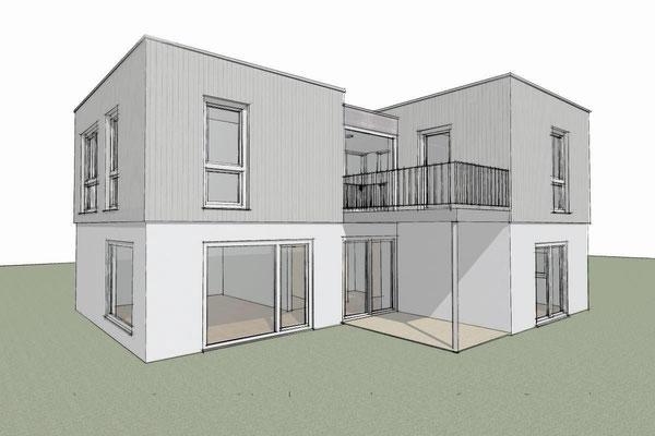Buchholz, Aufstockung Einfamilienhaus,  Entwurf und Genehmigungsplanung, 2014, Realisierung durch GU