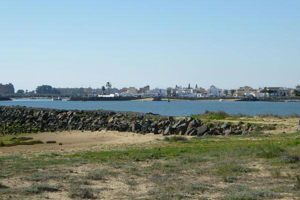 Hafenzufahrt Isla Cristina | im Hintergrund Punta de Moral
