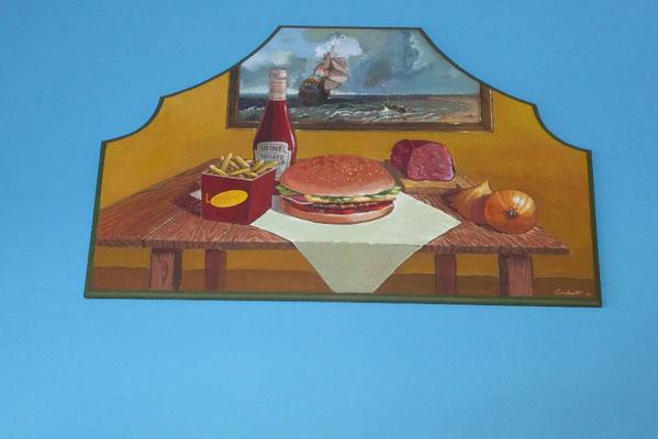 - ein Hamburger in Spanien
