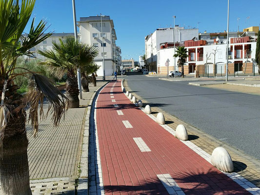 - so könnten sichere Radwege aussehen