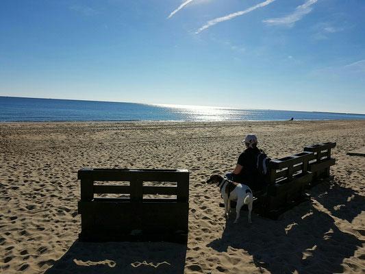 - einsam am Strand