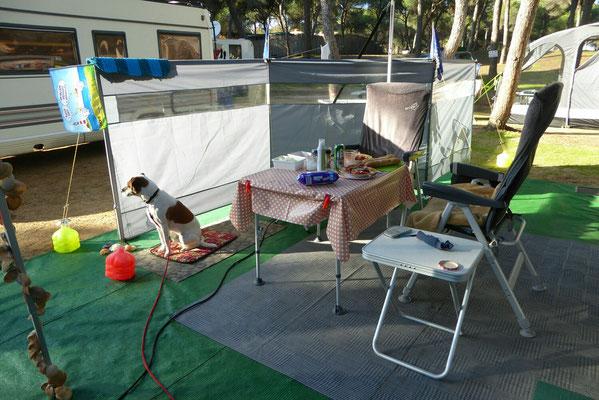 - stationäres Camping an einem Ort