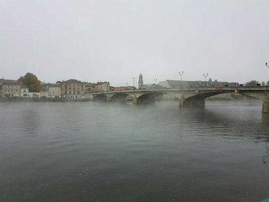 Brücke PaM Nov. '16 mit Frühnebel
