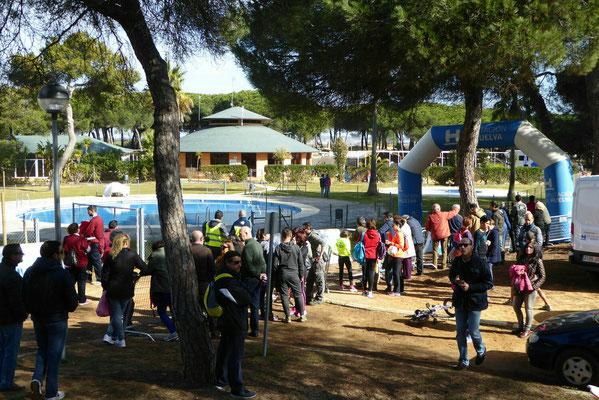 -Start und Ziel am Schwimmbad