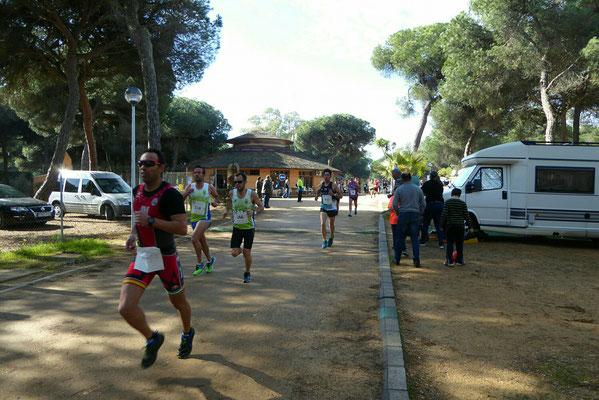 - die Läufer sind unterwegs