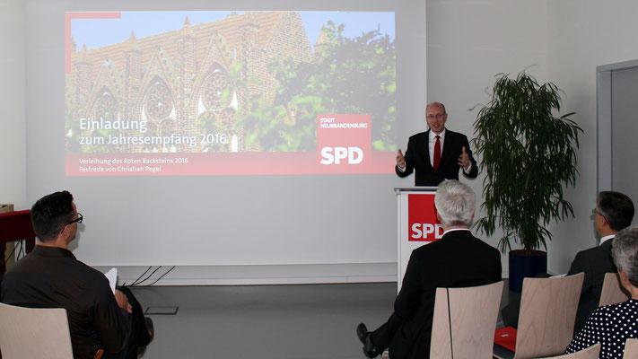 Gastredner Christian Pegel, Minister für Energie, Infrastruktur und Landesentwicklung