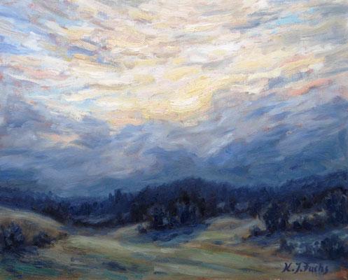 Sonne hinter den Wolken   Öl auf Leinwand   40 x 50 cm   Verkauft
