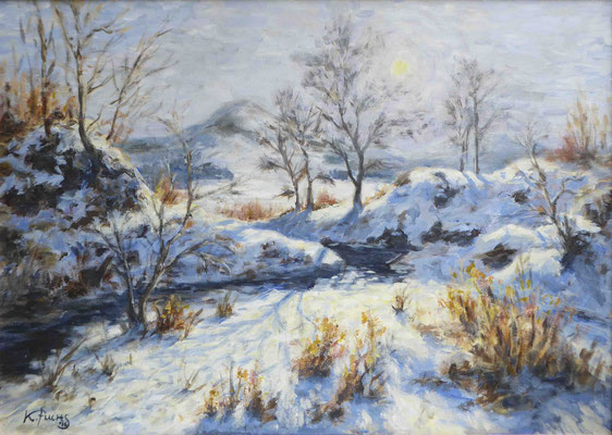 Winterlicht   Acryl auf Leinwand   50 x 70 cm
