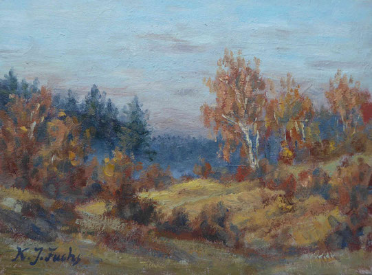 Birken im Herbst   Öl auf Leinwand   30 x 40 cm