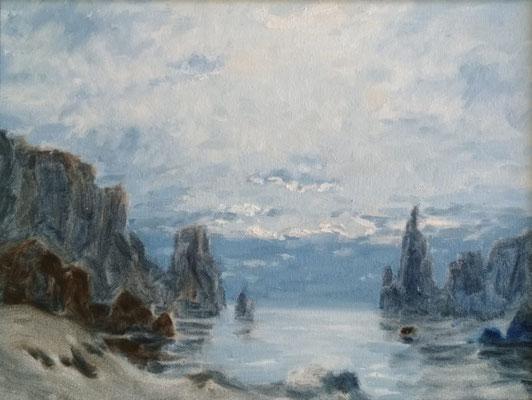Zu fremden Ufern | Öl auf Panel | 30 x 40 cm | 320€