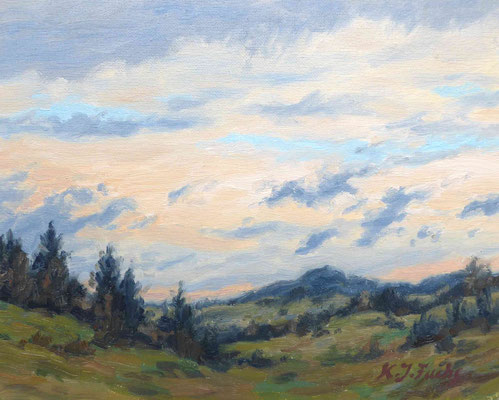 Wandernde Wolken | Öl auf Panel | 24 x 16 cm | 180€