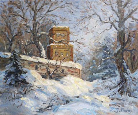 Der alte Wachturm   Öl auf Leinwand   50 x 60 cm