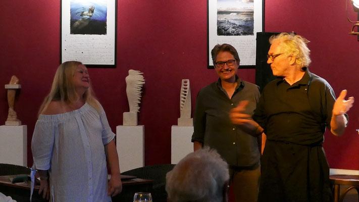 Ursula Schmid-Spreer, Brigitte Lamberts und Gastgeber Will Kaufmann