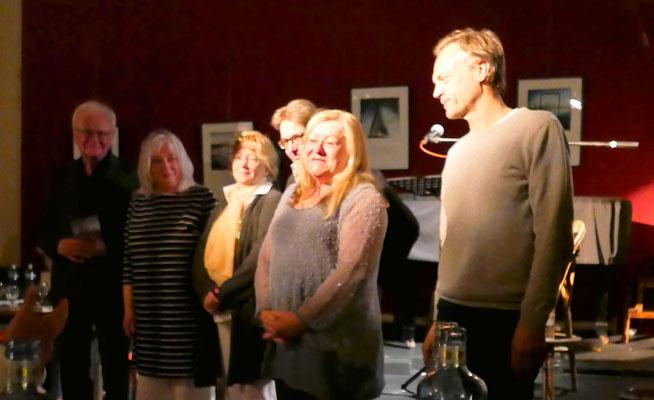 Bruno Woda, Anette Schwol, Hedy Loewe, Brigitte Lamberts, Ursula Schmid-Spreer, Jan Lammers (v.l.n.r.)