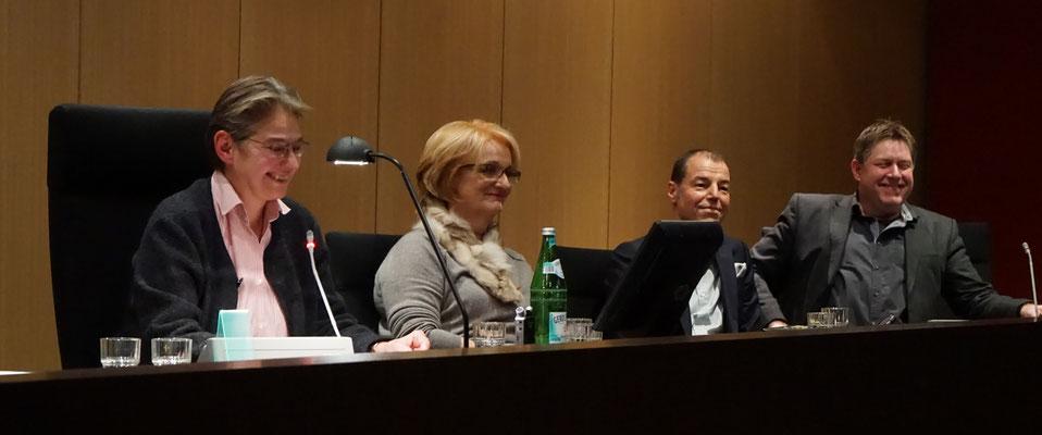 Brigitte Lamberts, Sibyl Quinke, Horst Eckert, Klaus Stickelbroek