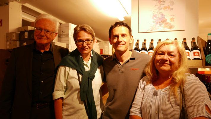 Bruno Woda, Brigitte Lamberts, Ivan Gantchev und Ursula Schmid-Spreer