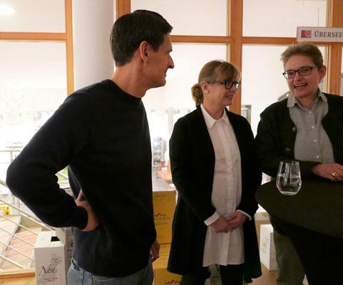 Gastgeber Ivan Gantchev, Kerstin Lange, Brigitte Lamberts