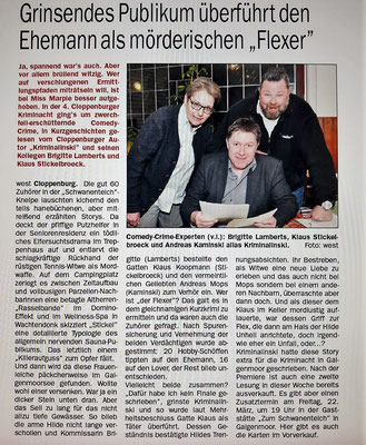 (C) Cloppenburger Wochenblatt, 20.02.2019, Autorin des Artikels Gaby Westerkamp