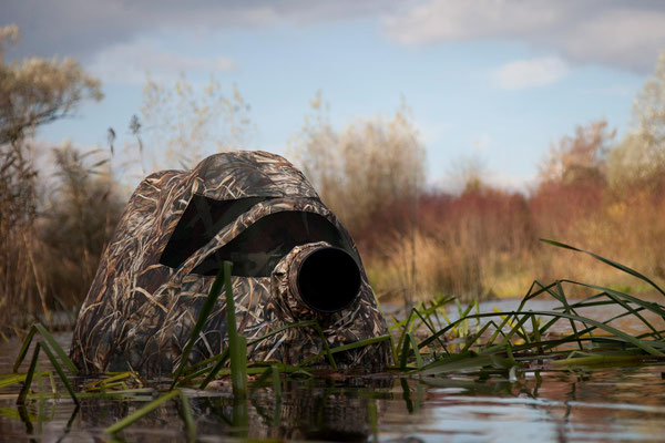 floating hide, great to be on eye level in the water