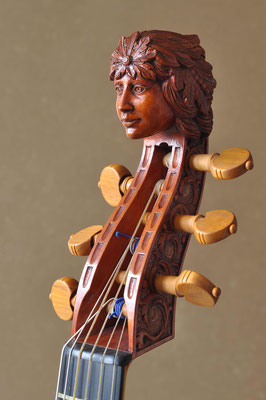 pegbox with female head on a treble viol - violworks