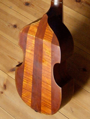 striped back of maple and plum on a big treble viol - violworks