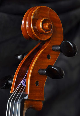 Cello scroll made from beech - violworks