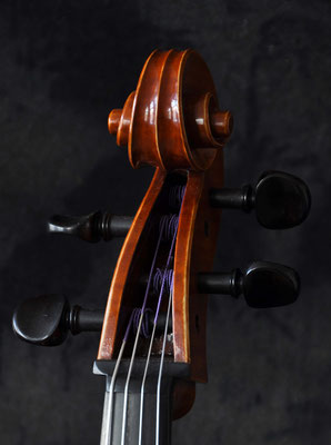 Andrea Guaneri viola, pegbox - violworks
