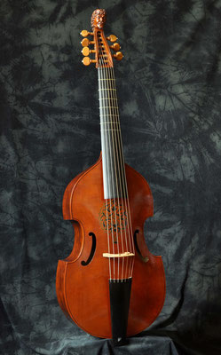 7- string bass viol after Michel Colichon, Paris 1689 - violworks